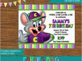 Chuck E Cheese Birthday Invitation Template Chuck E Cheese Birthday Party Invitations Personalized