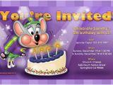 Chuck E Cheese Birthday Invitation Template Kids Birthday Party Invitations