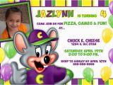 Chuck E Cheese Birthday Invitation Template Personalized Chuck E Cheese Printable Birthday Invitation