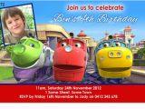 Chuggington Birthday Invitations Cu872 Chuggington Birthday Invitation Boys themed