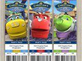 Chuggington Birthday Invitations Personalized Chuggington Birthday Ticket Invitation Cards