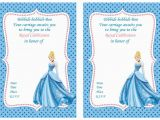 Cinderella Birthday Cards Cinderella Birthday Invitations Cinderella Birthday