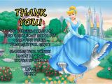 Cinderella Birthday Cards Personalized Disney Cinderella Birthday Thank You Card