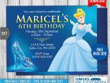Cinderella Birthday Invitation Template Cinderella Birthday Invitation 2 by Templatemansion On