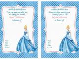 Cinderella Birthday Invitation Template Cinderella Birthday Invitations Cinderella Birthday