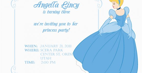 Cinderella Birthday Invitation Template Cinderella themed Party Best events Blog