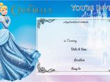 Cinderella Birthday Invitation Template Free Printable Cinderella Birthday Invitation Bagvania