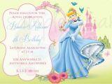 Cinderella Birthday Invitation Template Princess Cinderella Birthday Invitation