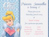 Cinderella Birthday Invitation Wording Cinderella Birthday Invitation Wording Invitation Librarry
