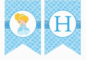 Cinderella Happy Birthday Banner Cinderella Birthday Banner Cinderella Banner Cinderella