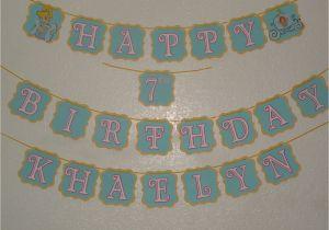 Cinderella Happy Birthday Banner Cinderella Inspired Happy Birthday Banner with by Mandymason