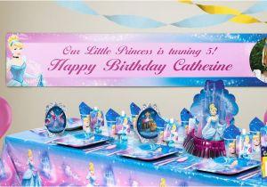 Cinderella Happy Birthday Banner Custom Cinderella Birthday Banners Party City