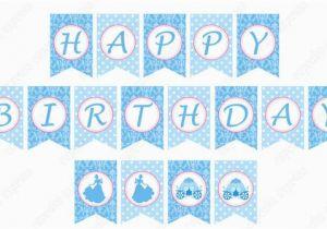 Cinderella Happy Birthday Banner Diy Cinderella Inspired Printable Birthday Banner Party