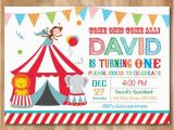 Circus themed 1st Birthday Invitations Circus Birthday Invitation Circus Birthday Party Invite