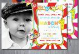 Circus themed 1st Birthday Invitations Circus Birthday Invitation First Birthday Party by