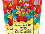 Circus themed 1st Birthday Invitations Circus Clown 1st Birthday Party Invitation Ticket Stub