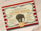 Circus themed 1st Birthday Invitations First Birthday Circus Invitation Vintage Circus theme