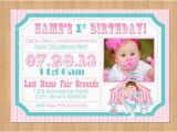 Circus themed 1st Birthday Invitations Girl Circus Invitation Circus Ticket Invitation Girl