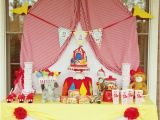 Circus themed Birthday Decorations A Whimsical Circus First Birthday Party anders Ruff