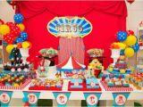 Circus themed Birthday Decorations Kara 39 S Party Ideas Circus Carnival 1st Birthday Boy Girl