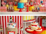 Circus themed Birthday Decorations Kara 39 S Party Ideas Circus Carnival Boy Girl 5th Birthday