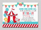 Circus themed Birthday Invites Carnival Circus Birthday Invitation Circus Carnival Birthday