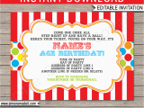 Circus themed Birthday Invites Carnival Invitation Template Carnival Invitations