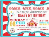 Circus themed Birthday Invites Carnival Party Invitations Party Invitations Templates