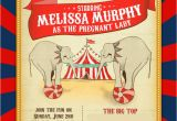 Circus themed Birthday Invites Circus Baby Shower Invitations Decor Part 1 Of 2