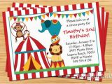 Circus themed Birthday Invites Circus Birthday Party Invitation for Kids