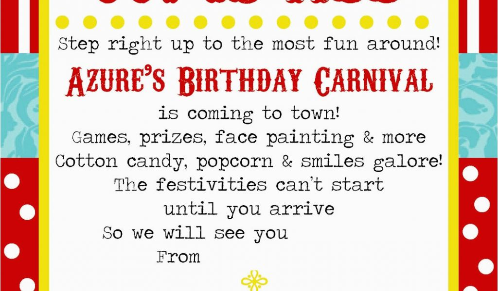 graphic relating to Printable Carnival Birthday Invitations named Circus themed Birthday Invitations Free of charge Printable Carnival Occasion