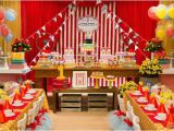 Circus themed Birthday Party Decorations Classic Red White Circus themed Birthday Party