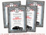 Classic Car Birthday Invitations Classic Car Birthday Party Darling Doodles
