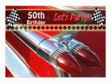 Classic Car Birthday Invitations Classic Car Birthday Party Invitation Zazzle