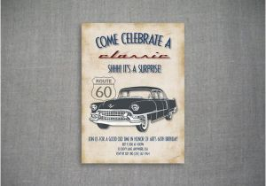 Classic Car Birthday Invitations Come Celebrate A Classic 5×7 Birthday Invitation by