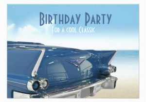Classic Car Birthday Invitations Cool Classic Car 60th Birthday Party Invitation Zazzle