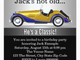 Classic Car Birthday Invitations Mans Classic Car Birthday Party Invitation Zazzle