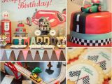 Classic Car Birthday Party Decorations A Vintage Race Car Birthday Party Boys Birthday Party