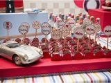 Classic Car Birthday Party Decorations Kara 39 S Party Ideas Vintage Race Car themed Birthday Party