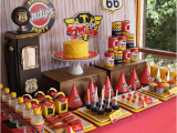 Classic Car Birthday Party Decorations Kara 39 S Party Ideas Vintage Rustic Race Car Mcqueen Cars
