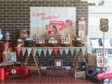 Classic Car Birthday Party Decorations Party Inspirations Vintage Car themed Dessert Table by