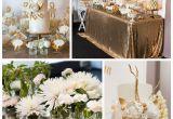 Classy Birthday Party Decorations Kara 39 S Party Ideas Elegant Gold White Baptism Party