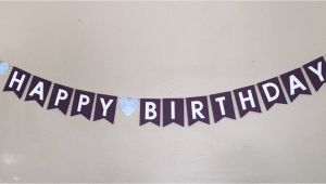 Classy Happy Birthday Banner Happy Birthday Banner Purple Elegant Classy by Craftingnco
