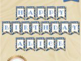 Classy Happy Birthday Banner Personalized Elegant Happy Birthday Banner Flowers Banner