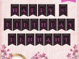 Classy Happy Birthday Banner Personalized Elegant Happy Birthday Banner for Birthday