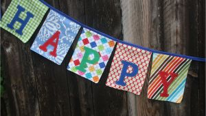 Cloth Happy Birthday Banner Happy Birthday Fabric Banner Bunting Garland