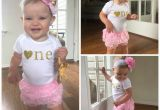 Clothes for First Birthday Girl Pink and Gold First Birthday Outfit First Birthday Girl