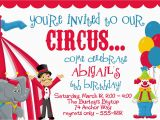 Clown Birthday Party Invitations Circus Carnival Birthday Party Invitations by