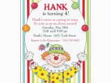 Clown Birthday Party Invitations Happy Clown Birthday Invitations Paperstyle