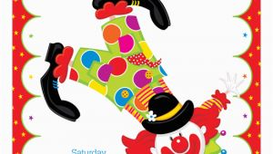 Clown Birthday Party Invitations